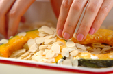 カボチャのアーモンド焼きの作り方1