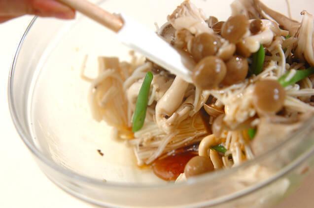 キノコのサラダの作り方の手順6