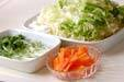 白菜のピリッと甘酢炒めの下準備1