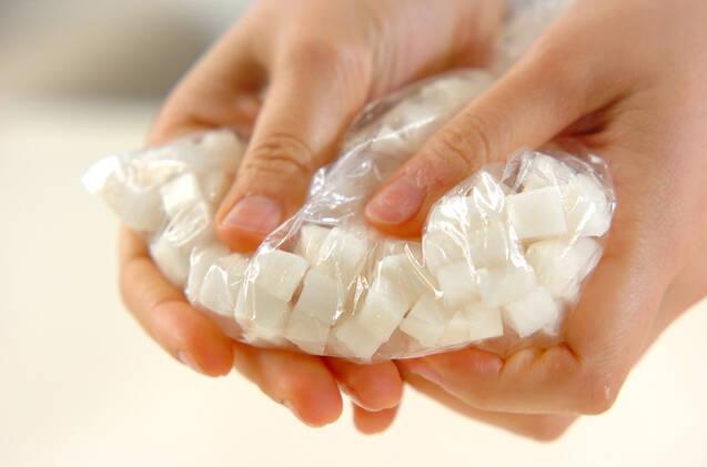 塩もみ大根納豆の作り方の手順1