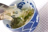エノキと玉ネギのスープの作り方2