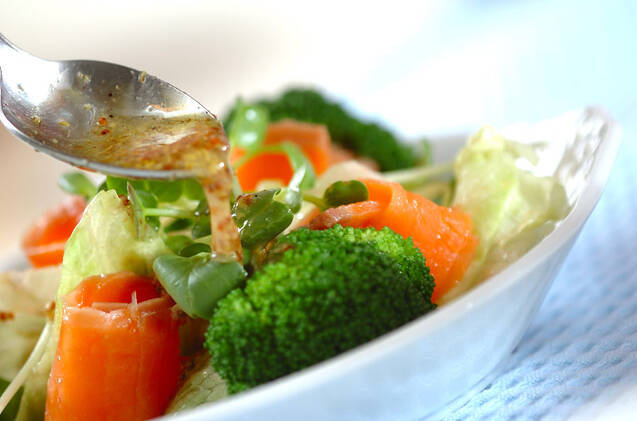 スモークサーモンサラダの作り方の手順6