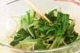 水菜と鶏皮のからし和えの作り方2