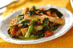 小松菜とツナのピリ辛炒め