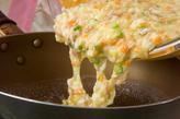 卵の混ぜ混ぜオムライスの作り方3