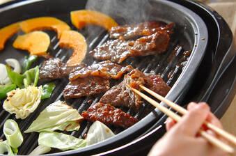 牛肉の漬け焼き