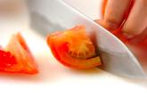 カルビ肉のトマト甘酢炒めの下準備2