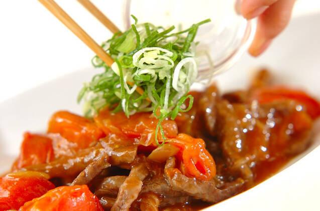 カルビ肉のトマト甘酢炒めの作り方の手順8