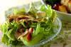 レタスとマッシュルームのサラダ