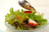 レタスとマッシュルームのサラダの作り方1