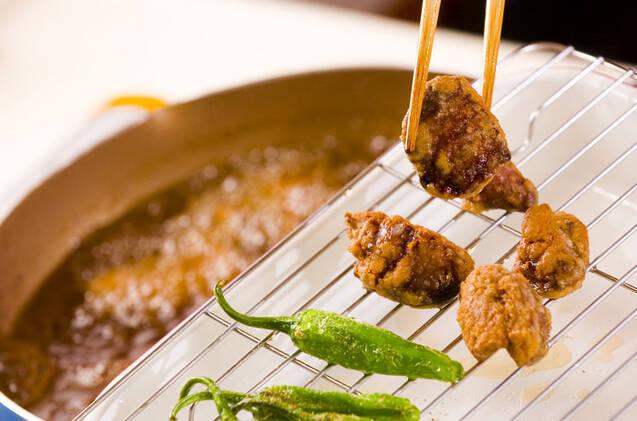 鶏レバーカレー風味揚げの作り方の手順3