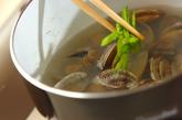 アサリとキヌサヤのお吸い物の作り方2