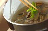 アサリとキヌサヤのお吸い物の作り方5