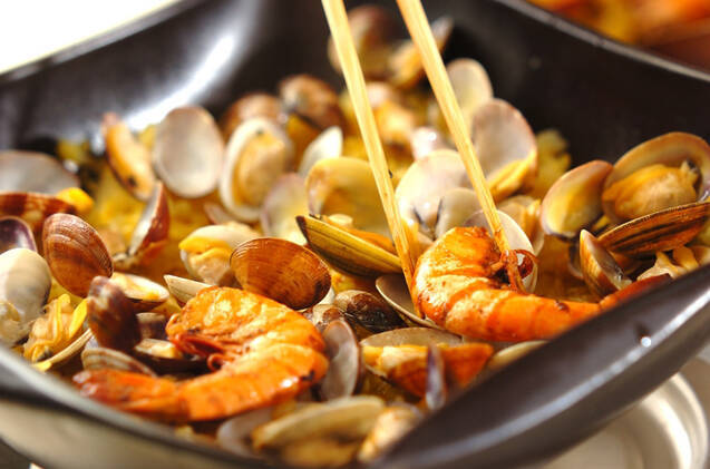 パエリア風土鍋ご飯の作り方の手順11