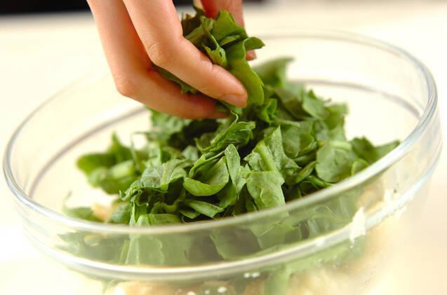 春菊入りポテトサラダの作り方の手順3