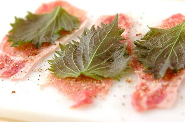 シイタケキムチの豚肉巻きの作り方の手順1