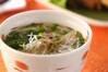 鶏の煮込み温麺の作り方の手順