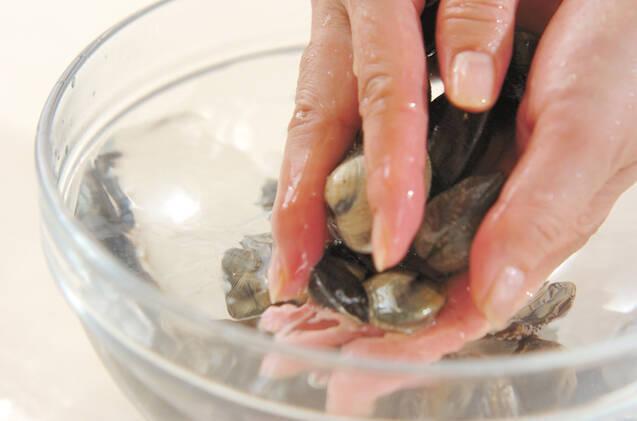 貝のお吸い物の作り方の手順1