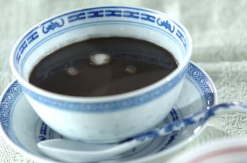 白玉入り黒ゴマ汁粉
