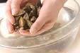 貝のみそ汁の下準備1