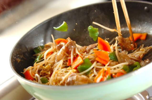 甘辛!豚肉の照り焼き野菜炒めの作り方の手順7