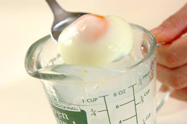 レンジで簡単温泉卵の作り方の手順3