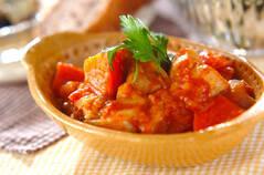 鶏ジャガのトマト煮