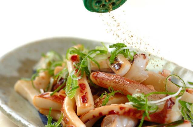 イカのしょうゆ炒めの作り方の手順3