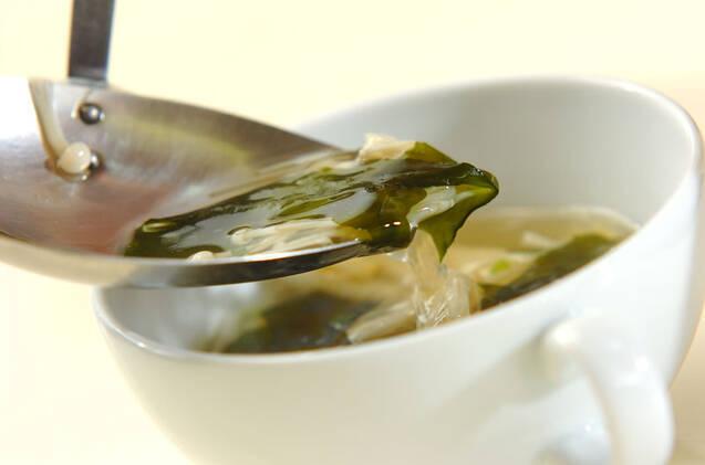 タケノコとワカメのスープの作り方の手順5