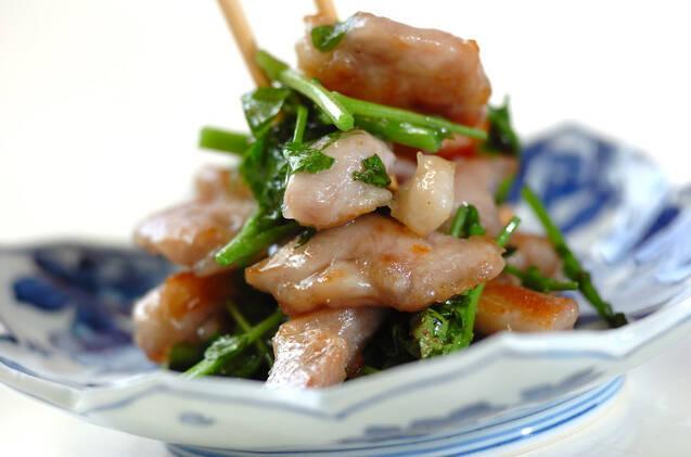 鶏肉とクレソン炒めの作り方の手順3