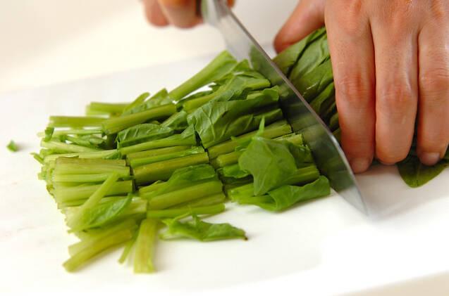 ホウレン草のスパイシー炒めの作り方の手順1