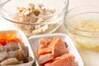 鮭とジャガイモの粕汁の作り方の手順4