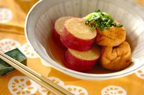 サツマイモとがんもどきの含め煮