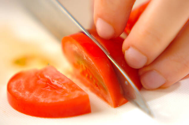 白身魚のフレッシュトマトソースの作り方の手順2