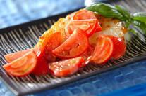 白身魚のフレッシュトマトソース