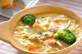 鶏肉のクリームコーン煮
