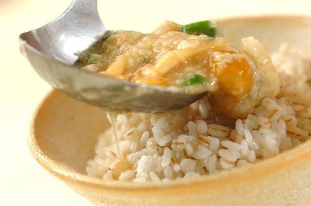 アジの干物トロロ麦ご飯の作り方の手順8