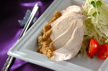 濃厚ゴマダレがけゆで鶏