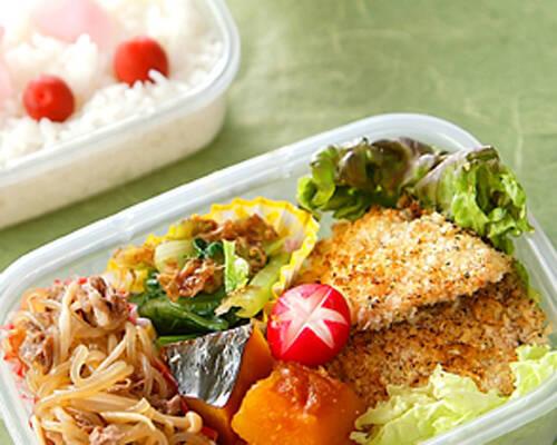 しらたきと鮭の炒め物