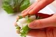 長芋の梅味大葉巻きの作り方2