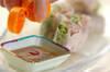 豚しゃぶの薬味たっぷり生春巻きの作り方の手順3