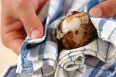 里芋の煮物の下準備1