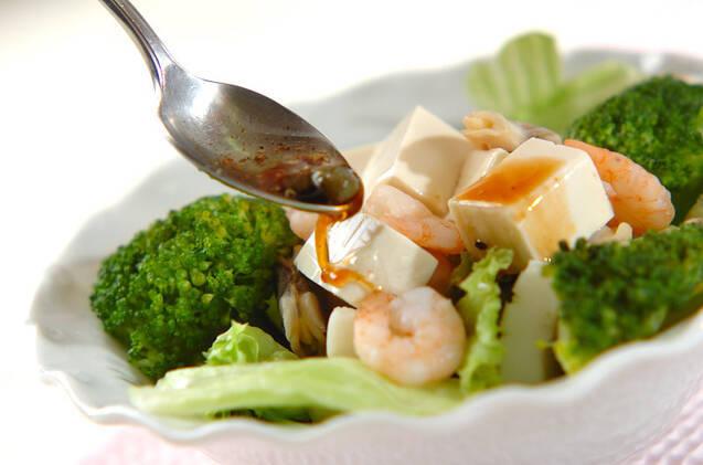 シーフードと豆腐のサラダの作り方の手順6