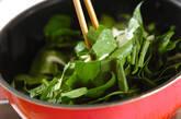 ホウレン草と牛肉の炒め物の作り方6