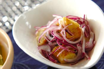 焼きナスのドレッシングサラダ