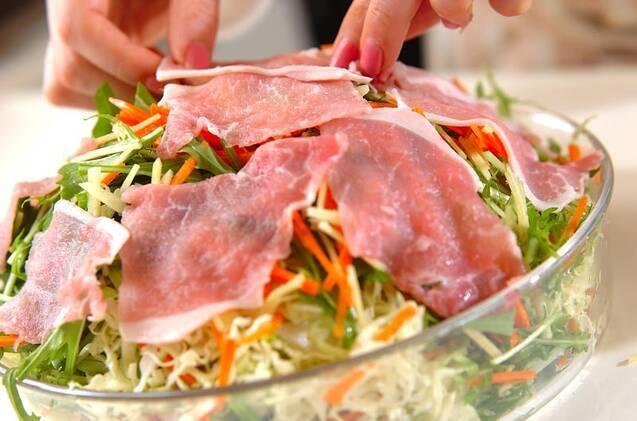 豚肉と野菜のレンジ蒸しの作り方の手順7