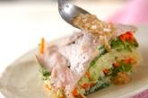 豚肉と野菜のレンジ蒸しの作り方2