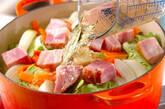 春キャベツの蒸し煮の作り方1