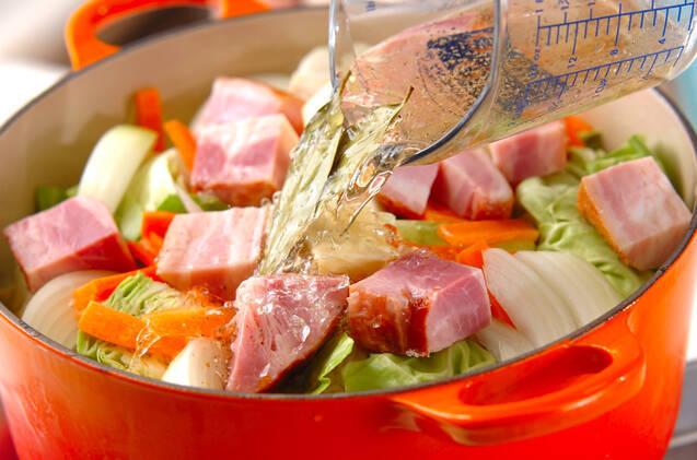 春キャベツの蒸し煮の作り方の手順5