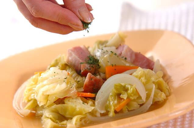 春キャベツの蒸し煮の作り方の手順6